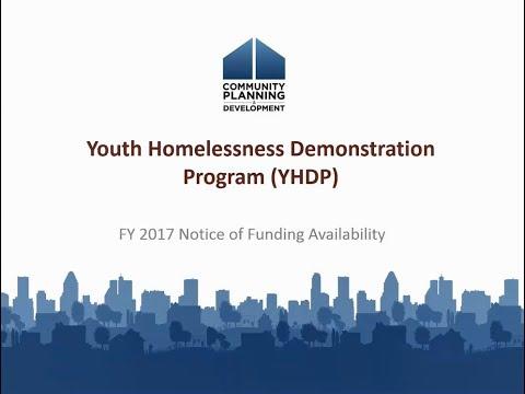 FY 2017 Youth Homelessness Demonstration Program Requirements Webinar