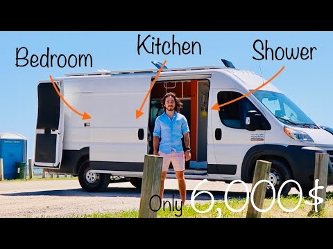 VAN TOUR | Veterans AMAZING Budget Self Converted Ram ProMaster