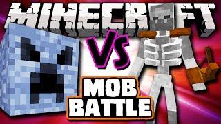 MEGABLOCK VS MUTANT SKELETON - Minecraft Batalha de Mobs - Mutant Creatures e BossCraft 2