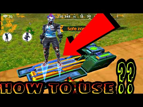 """HOW TO USE THIS """" LAUNCH PAD """" IN FREE FIRE BATTLEGROUND 
