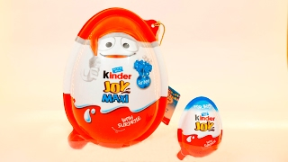 Big Kinder Joy  Kinder MAXI surprise eggs opening with kinder joy nursery rhymes