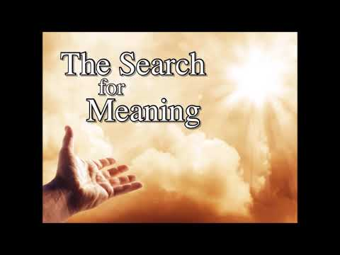 The Search for Meaning - The Value of Diligence