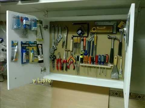 Armario para herramientas youtube for Casa para herramientas