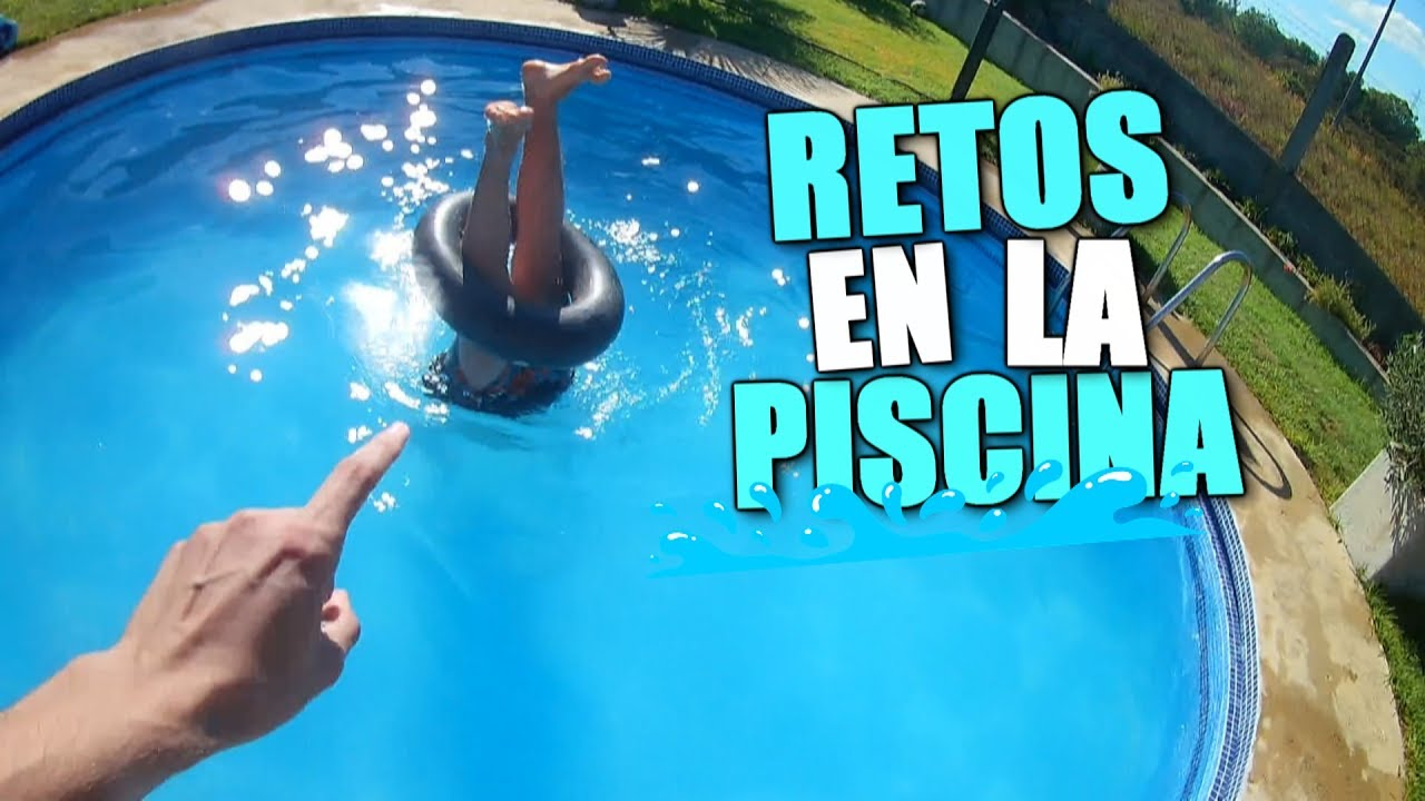 Hago un reto en la piscina con piernecillas youtube for Hago piscinas