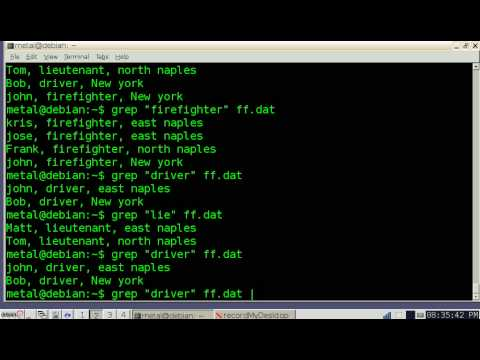 Bash Lesson 3 Grep And Cut Commands Youtube