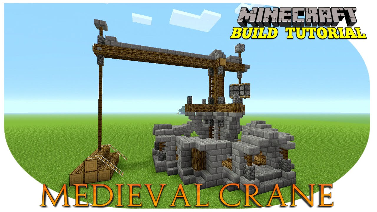 Minecraft How To Build A Crane Medieval Tutorial
