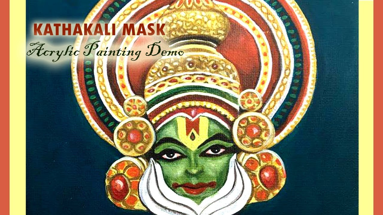 How to paint a kathakali portrait canvas art acrylic painting