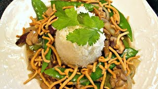 Chicken Chow Mein - Eastern Style With Crispy Noodles, Rice And Vegetables - Poormansgourmet