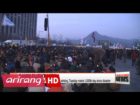 Candlelight vigil focuses on ferry disaster as 1,000th day anniversary approaches