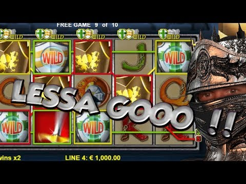 BIG WIN!!!! Knights Life - Casino Games - bonus round (Casino Slots) Huge Win