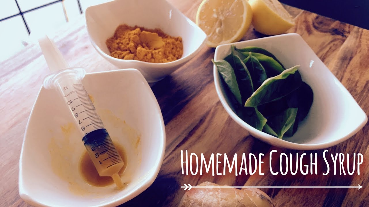 All natural homemade cough syrup for