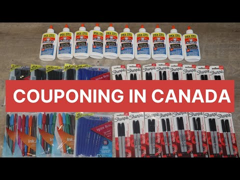 PART 2 FREE SCHOOL SUPPLIES AT WALMART   COUPONING IN CANADA (vlog#61)