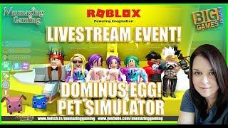 ROBLOX LIVESTREAM PET SIMULATOR! with Mumazing Gaming!