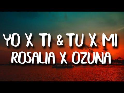 ROSALÍA, Ozuna - Yo x Ti, Tu x Mi (Letra/Lyrics)