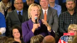 Clinton Confronted By NH Voter For Calling GOP Her Enemy