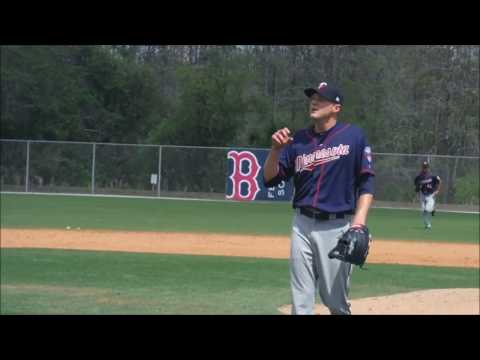 Minnesota Twins RHP Paul Clemens pitching in MiLB Spring Training 4/1/2017