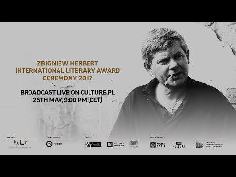 Zbigniew Herbert International Literary Award Ceremony 2017