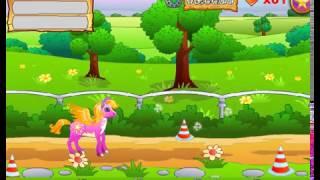 Бесплатные игры онлайн  Игра Пони гонки, игры для детей