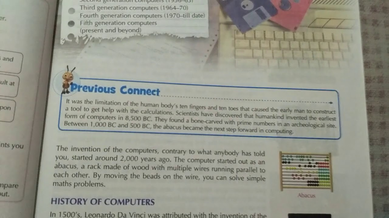 History Of Computer Part 1 Chapter 2 For 6th Class Youtube