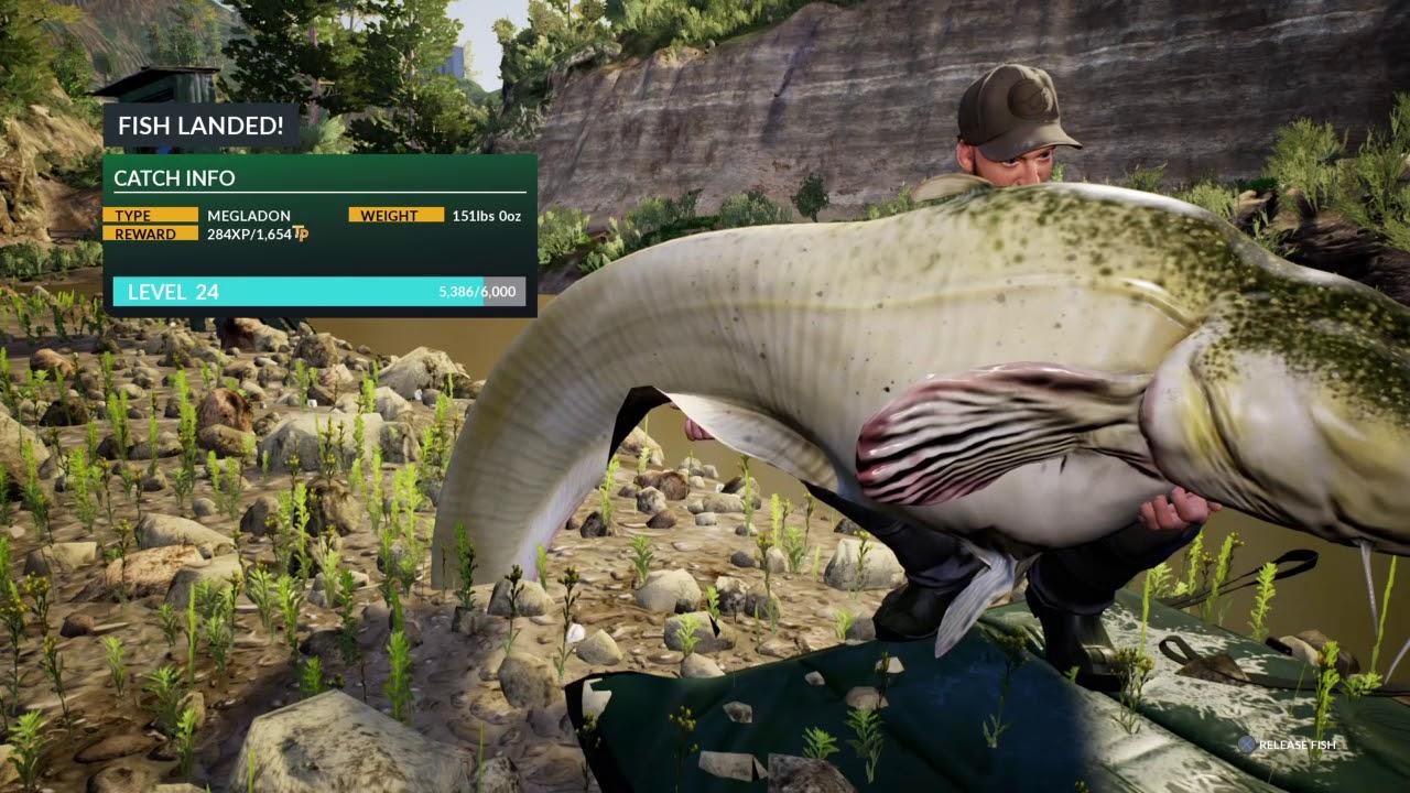 Catching megladon euro fishing ps4 youtube for Ps4 fishing games