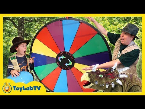 Download Youtube: Dinosaur Family Game & Giant Prize Wheel! Dinosaurs, Surprise Eggs, Fun Nerf Playtime & Kids Toys