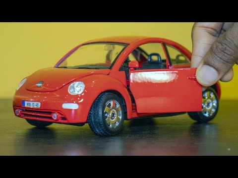 Diecast Car Unboxing - Volkswagen New Beetle Red 1:24 Diecast Scale Model Car
