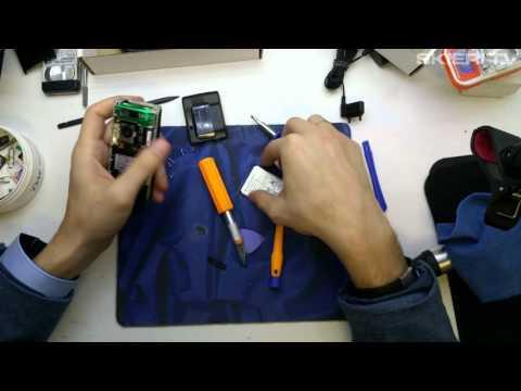 Sony Ericsson K800i - wymiana głośnika - ear speaker repair - disassembly