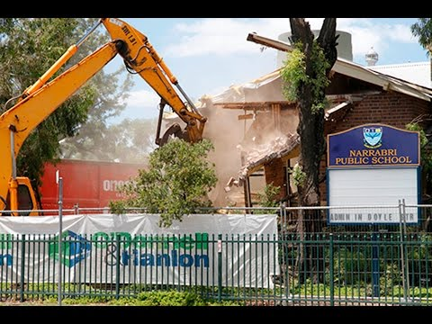 Narrabri Public School old administration building demolition