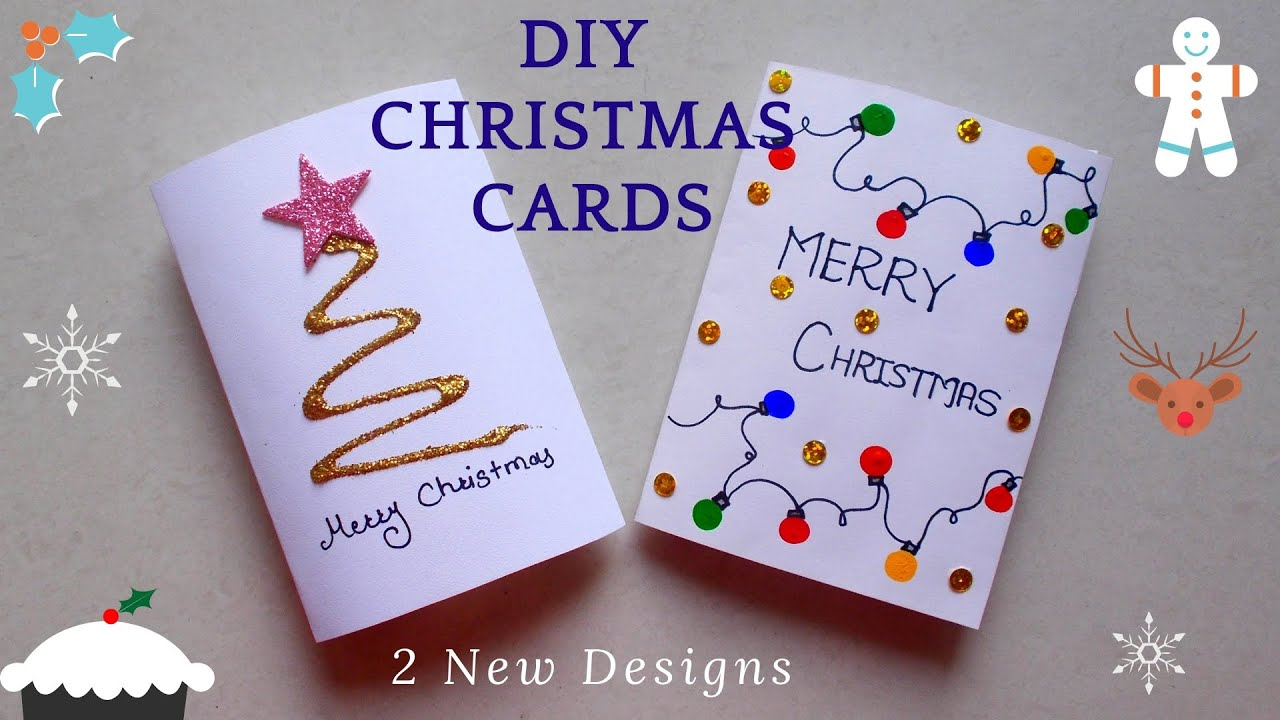 Easy Christmas Cards Designs.Diy 2 Easy Christmas Greeting Cards How To Quickly Make Christmas Cards Av Visuals