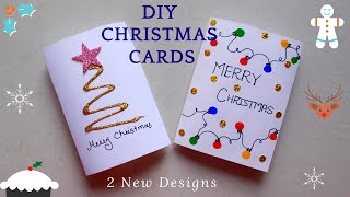 DIY 2 Easy Christmas Greeting Cards | How to Quickly Make Christmas Cards | AV VISUALS