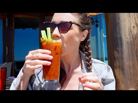 DRINKING BLOODY MARY'S ON THE BEACH!