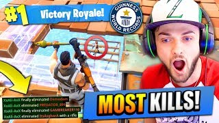 Ali-A's MOST KILLS on Fortnite: Battle Royale! (NEW)