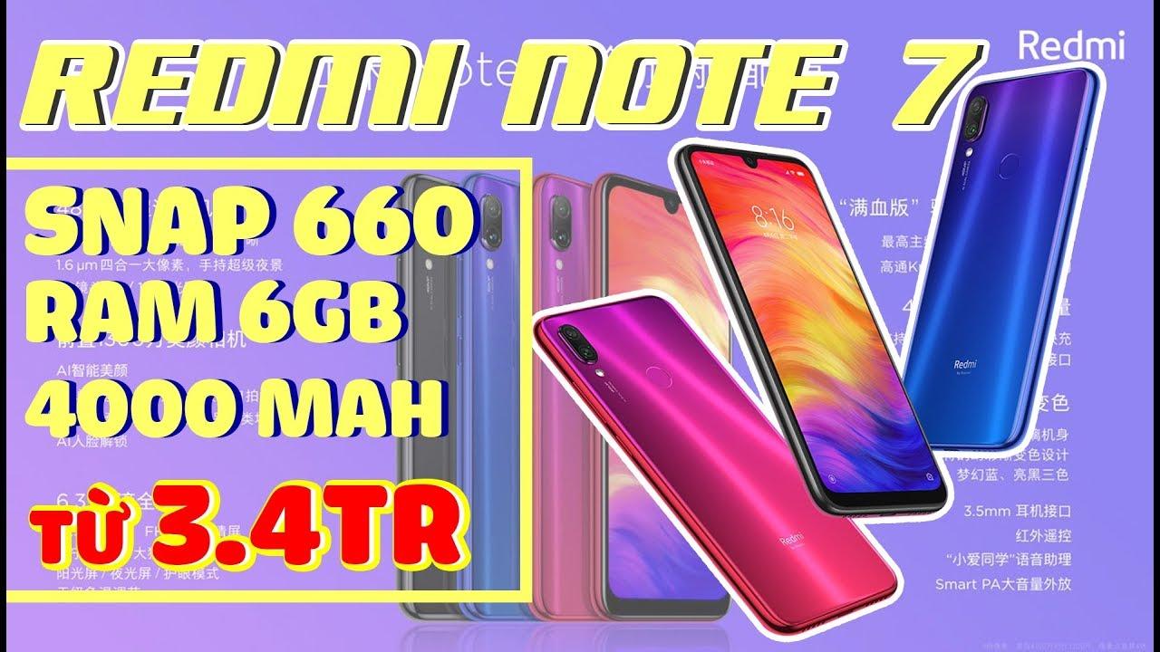 """Cận cảnh Xiaomi Redmi Note 7: 3 triệu có Snap660, camera 48MP """"làm màu""""??"""