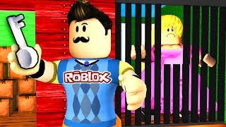 Roblox - HELLO NEIGHBOR - SEGRETARIO SEGRETARIO GIRL PRISONER?!