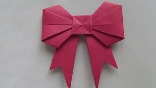 БАНТИК Легкое Новогоднее Оригами для начинающих. Видео урок
