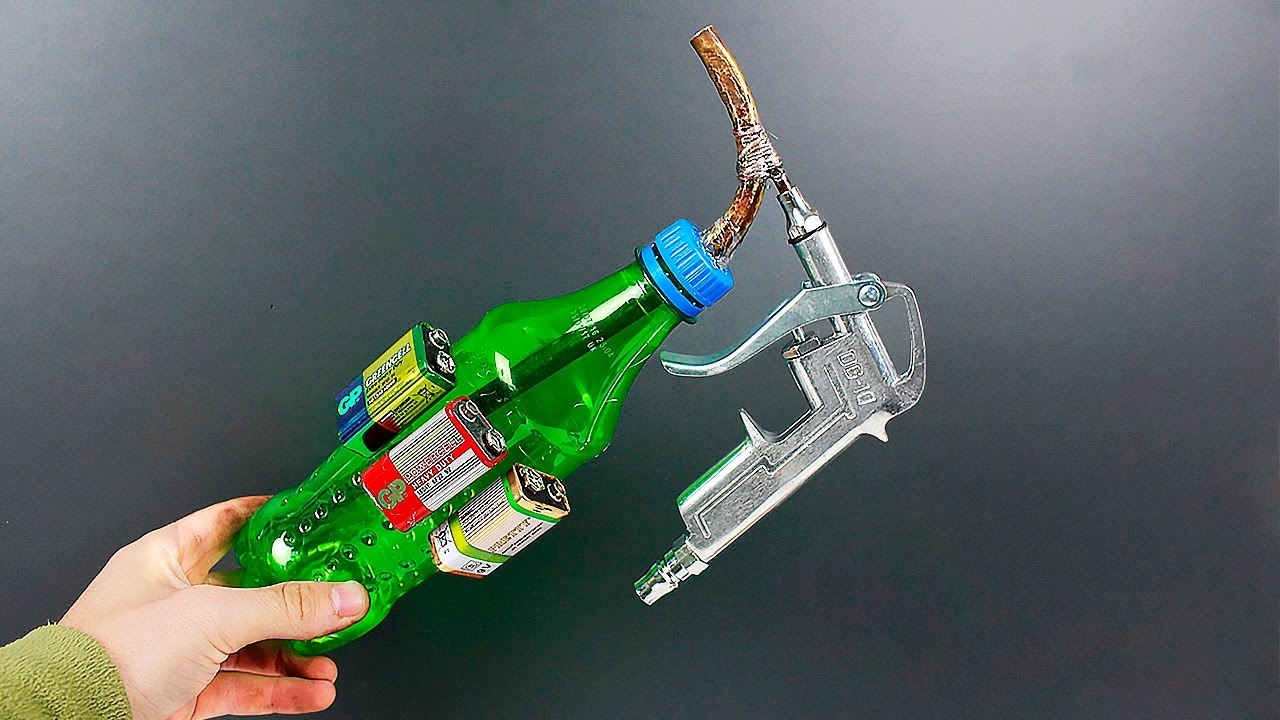Awesome idea on making a spray gun out of a bottle - YouTube