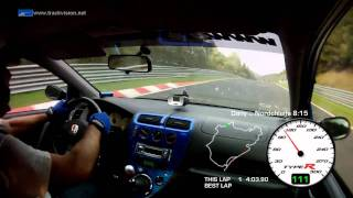 Best Time Attack 8:15 ... Honda Civic TypeR EP3 ... Nürburgring Nordschleife BTG 26-09-2011