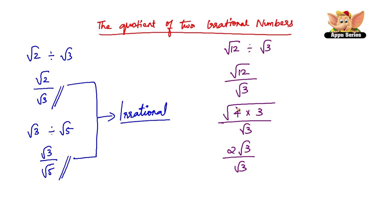 How To Divide An Irrational Number By Another Irrational Number? How To  Divide An Irrational