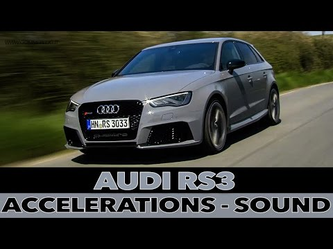 Original Audi RS3 2016  Test Launch Control Amp Sound  FunnyDogTV
