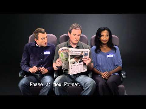 Columbus Dispatch New Format Testing: Airplane Seat Test