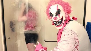 FUNNY CLOWN SHOWER PRANK ON JUST AMEERAH