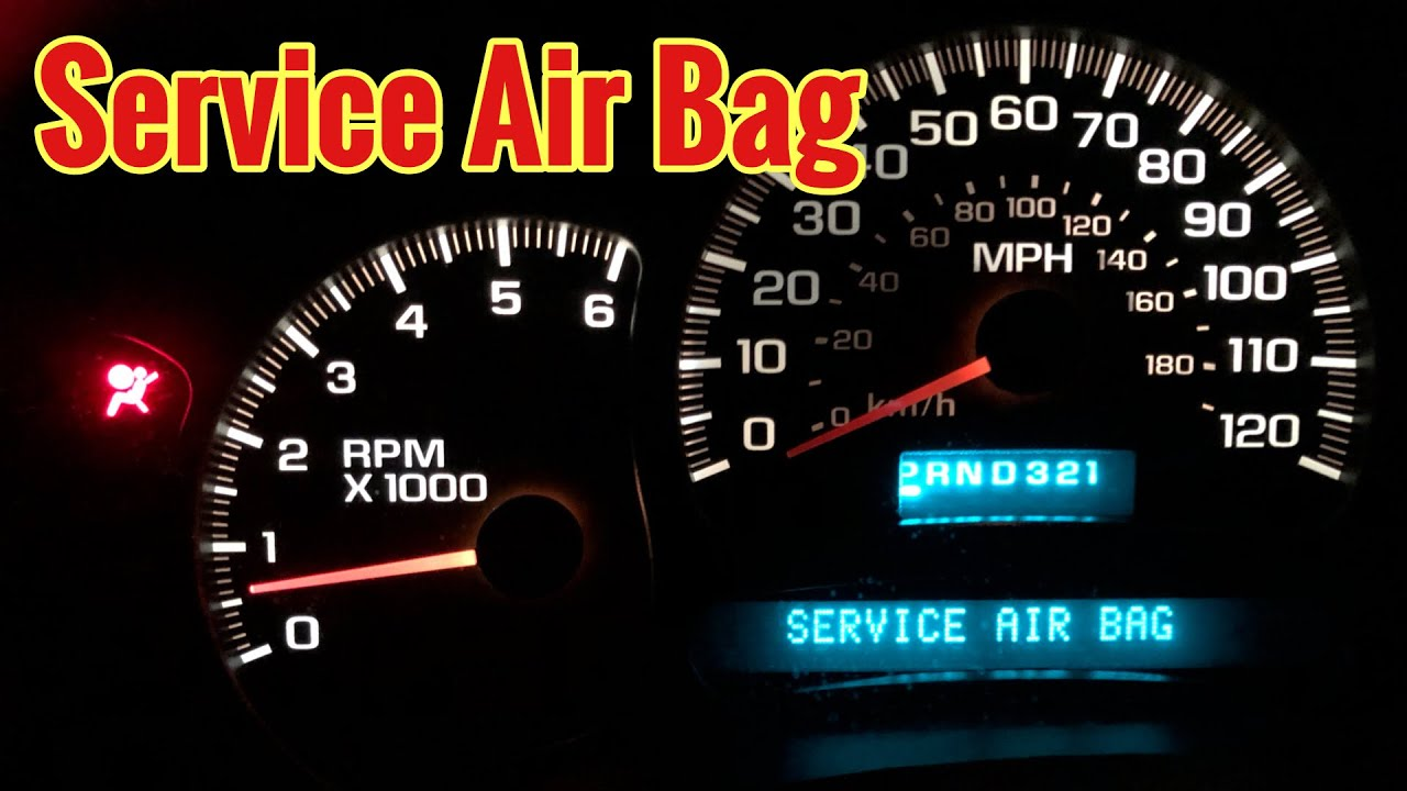 2000 2006 Gm Truck Service Air Bag Check This First Youtube
