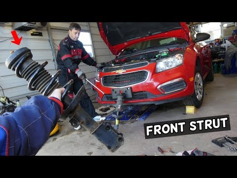 CHEVROLET CRUZE FRONT STRUT SHOCK REPLACEMENT REMOVAL