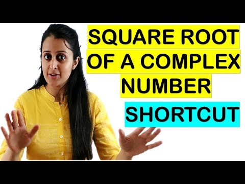 SQUARE ROOT OF A COMPLEX NUMBER IN 10 SECONDS// JEE/EAMCET/NDA TRICKS thumbnail
