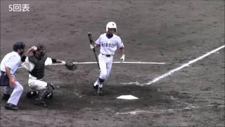 説明2914年7月13日松本市野球場、対長野西高校戦.