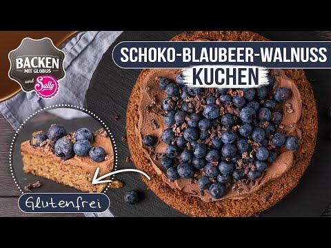 NEU: glutenfreier SchokoBlaubeerWalnussKuchen | Backen mit Globus & Sally #113