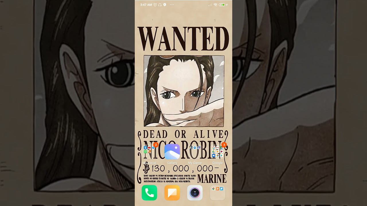 One piece wanted poster live wallpaper ...