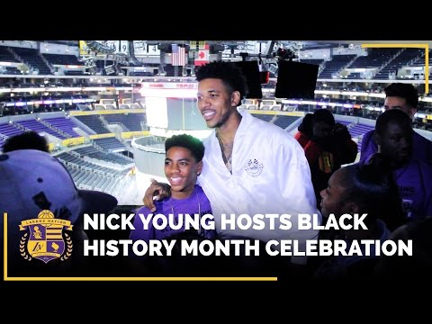 Nick Young Hosts Black History Month Celebration​