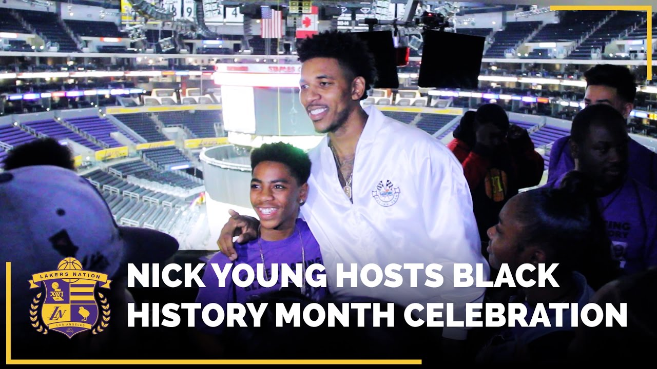 55247f2e94ac Nick Young Hosts Black History Month Celebration - YouTube