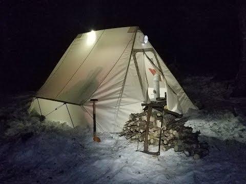 Snowtrekker Hot Tent Camping In The Adirondacks!